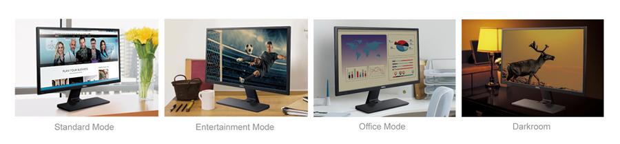 Standard- / Entertainment- / Office-Mode / Darkroom