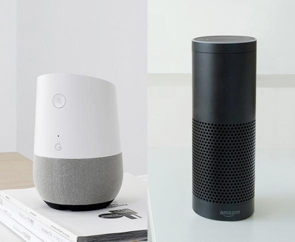 Verbindung zu Google Home & Amazon Echo