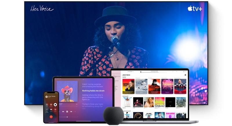 Der HomePod mini verbindet sich mit all ihren Apple Geräten und ermöglich eine einfache Wiedergabe von Musik und mehr