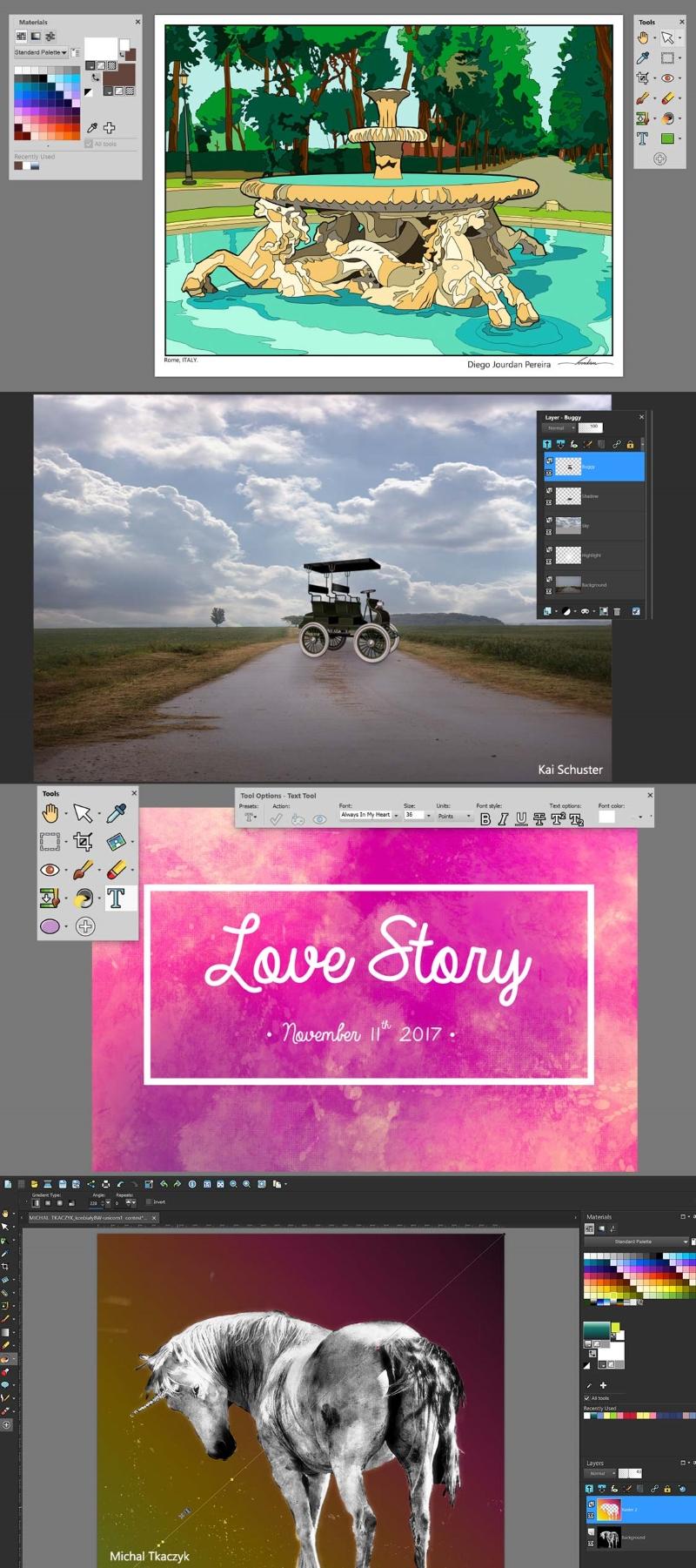 Corel PaintShop Pro 2018 für kreative graphische Gestaltung