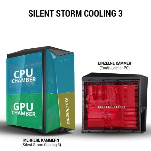 MSI Infinite A Gaming PC mit silent Storm 3 Kühlsystem bei computeruniverse
