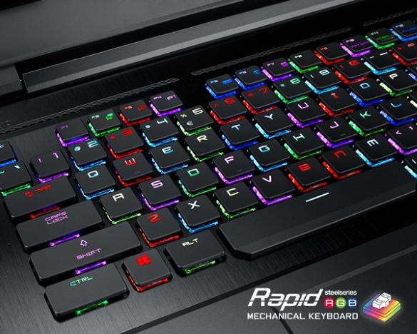 MSI GT75VR mit mechanischer Gaming-Tastatur bei computeruniverse