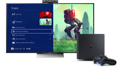 <strong>Sony PlayStation 4 Slim</strong> mit Top-Vernetzung