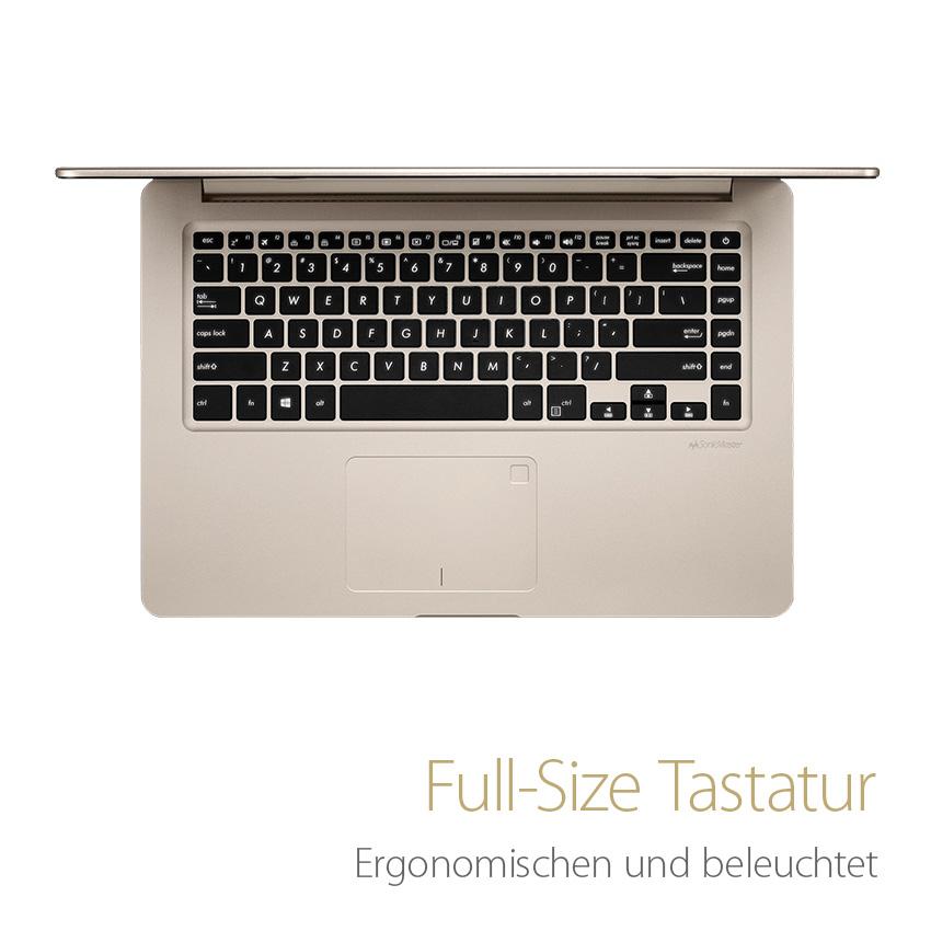 Bedienkomfort - Beleuchtete Full-Size Tastatur