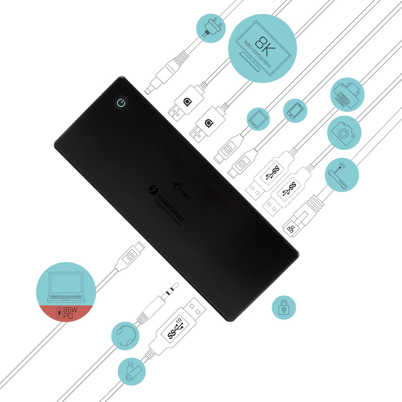 i-tec Thunderbolt3/USB-C Dualdock 85W